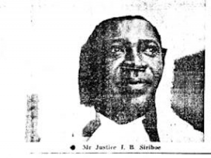 Justice Siriboe