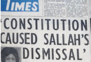 sallah blame constitution
